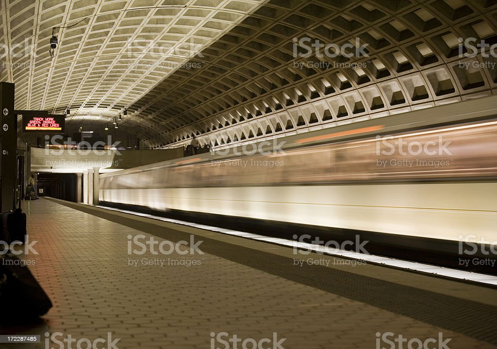 Leaving The Station royalty-free stock photo
