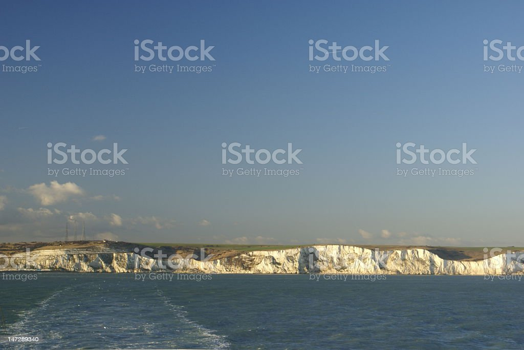 Leaving the White Cliffs of Dover behind royalty-free stock photo
