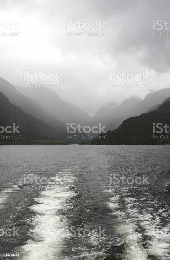 Leaving the wilderness behind stock photo