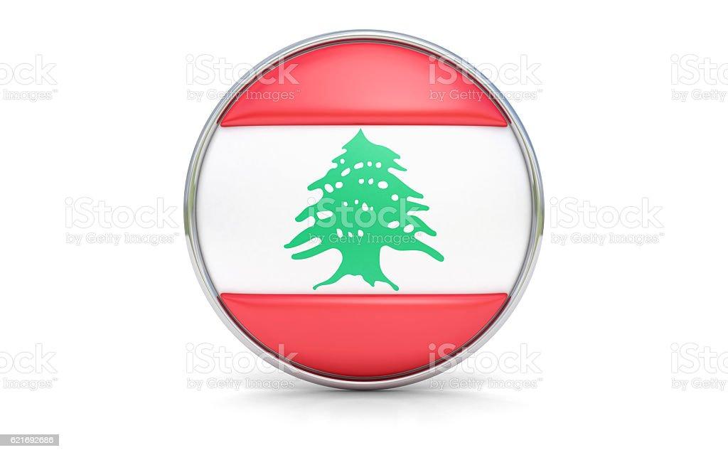 Lebanese flag stock photo