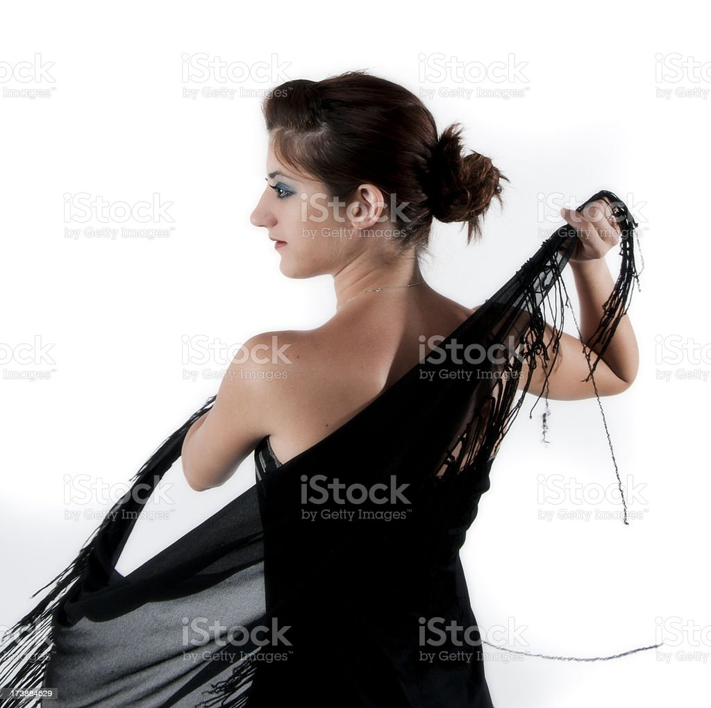 Lebanese Girl Wearing Ballroom Dress royalty-free stock photo