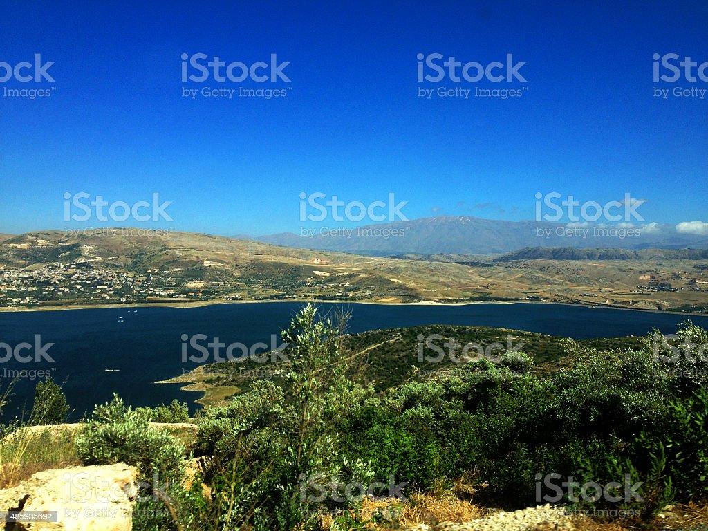 Lebanese landscape, Bekaa Valley Beqaa (Bekaa) Valley, Baalbeck, Lebanon stock photo