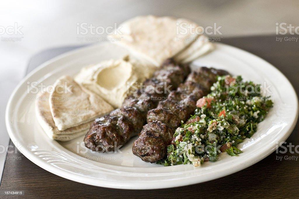 Lebanese Platter stock photo