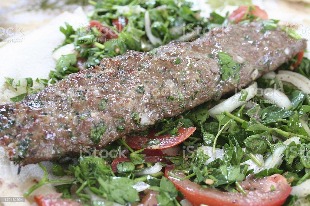 Lebanese Sausage (Kefta) stock photo