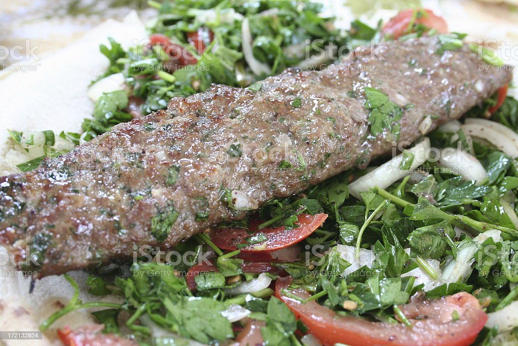 Lebanese Sausage (Kefta) stock photo