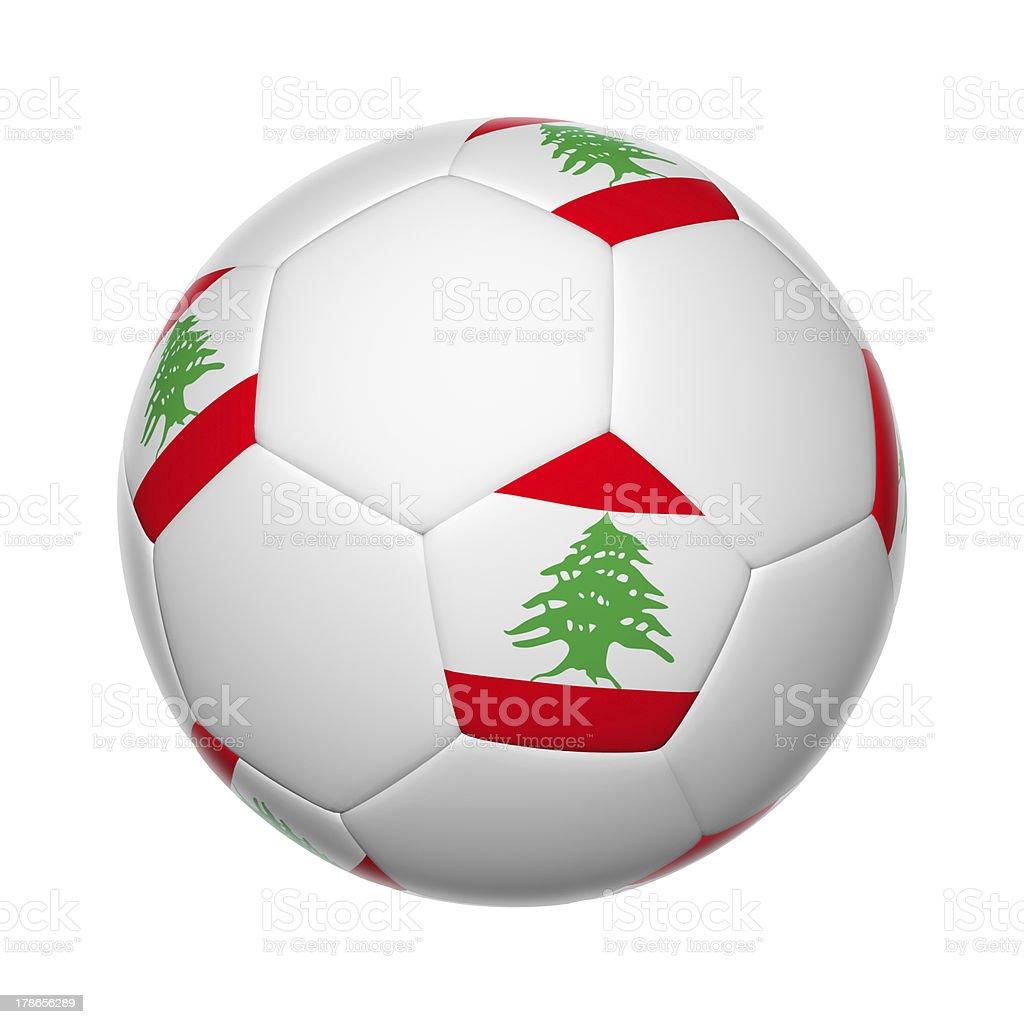 Lebanese soccer ball royalty-free stock photo