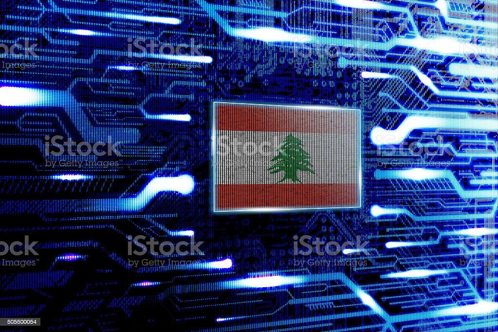 Lebanon, Beirut national official state flag stock photo