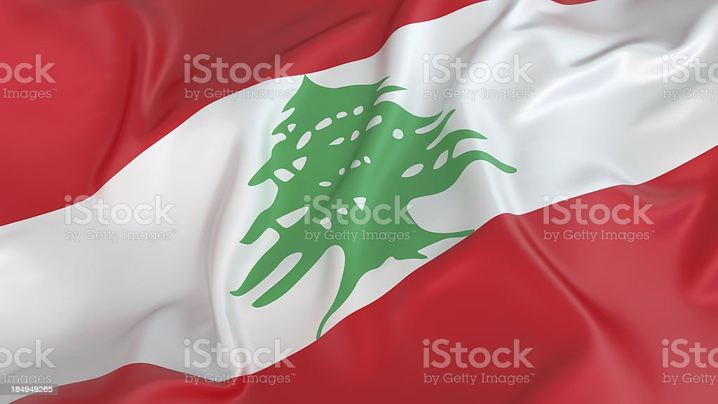 Lebanon Flag royalty-free stock photo