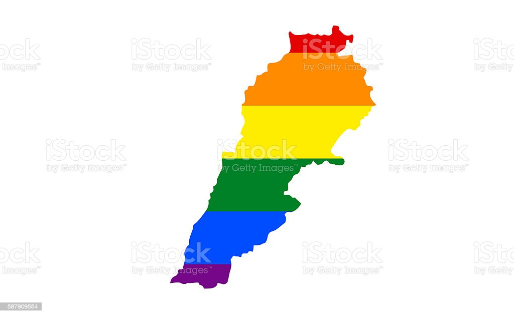 Lebanon Gay Pride stock photo