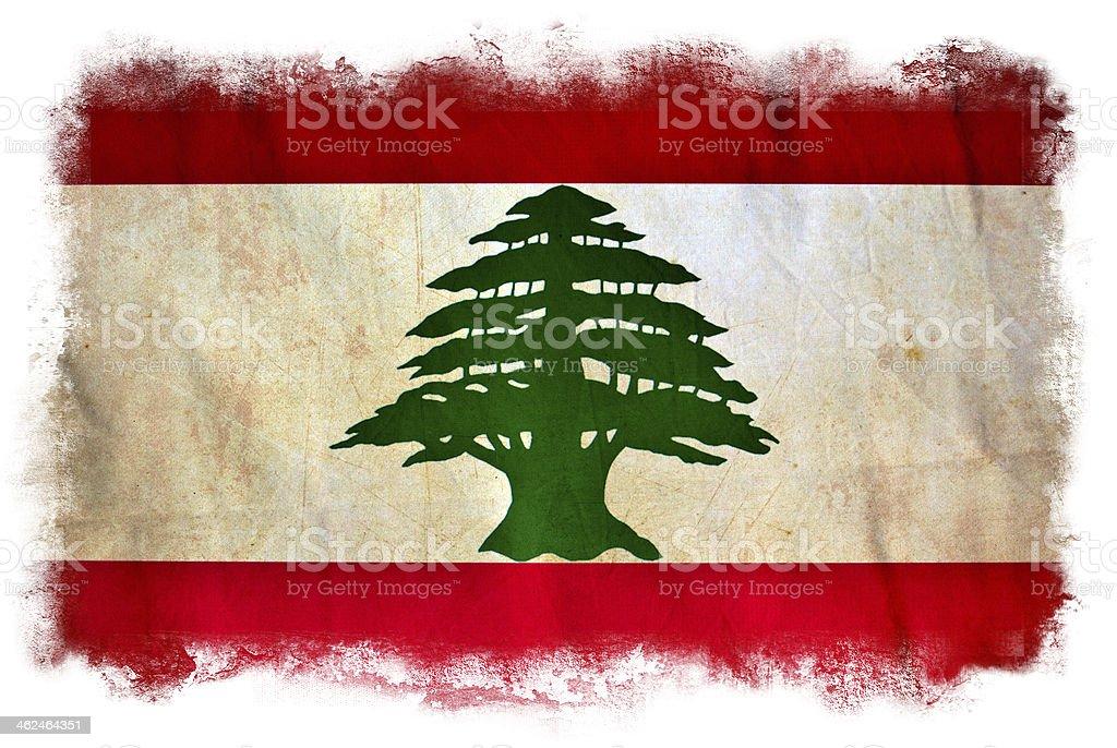 Lebanon grunge flag stock photo