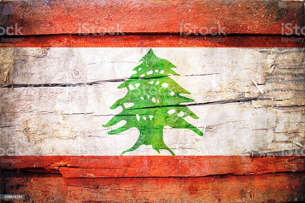 Lebanonese Flag - Lebanon stock photo