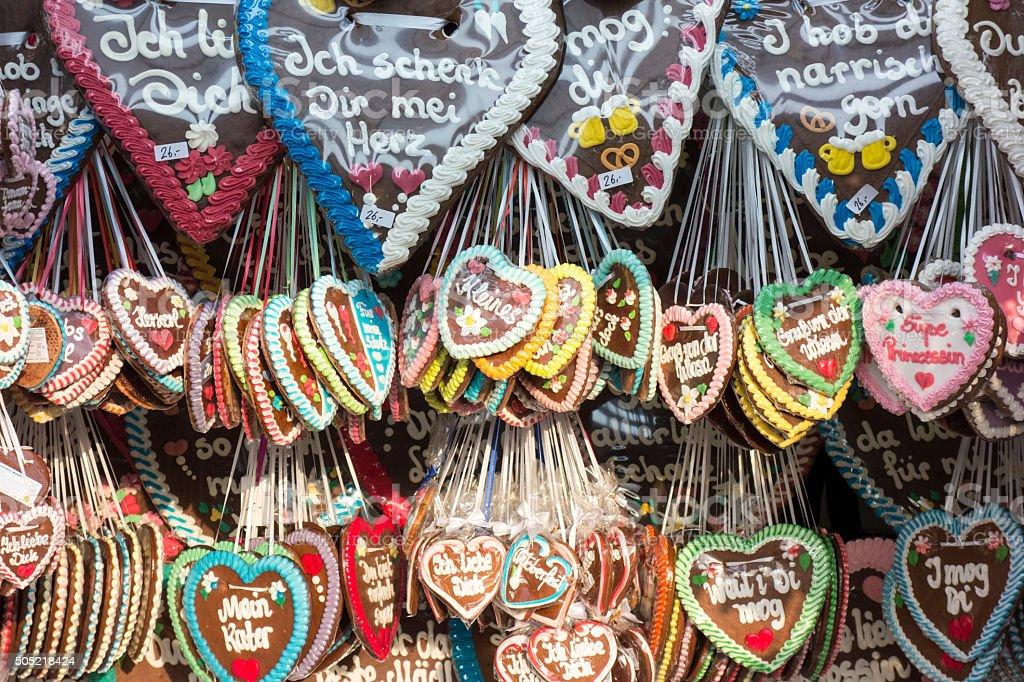 Lebkuchenherzen from Oktoberfest stock photo