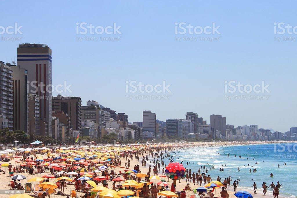 Leblon and Ipanema beaches royalty-free stock photo