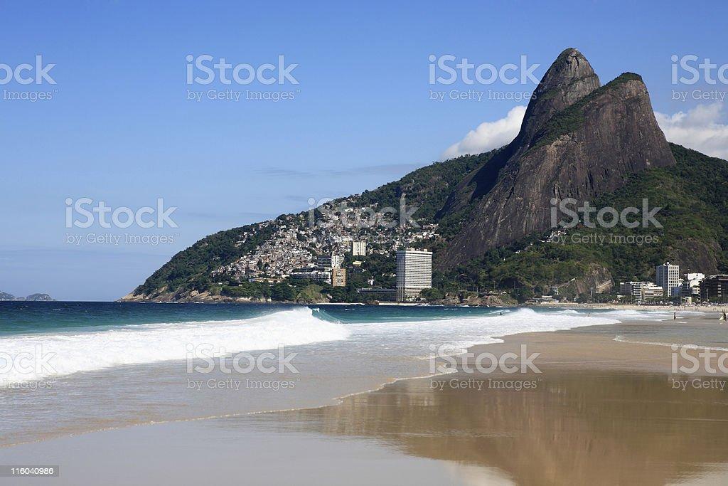 leblon beach in rio de janeiro brazil stock photo