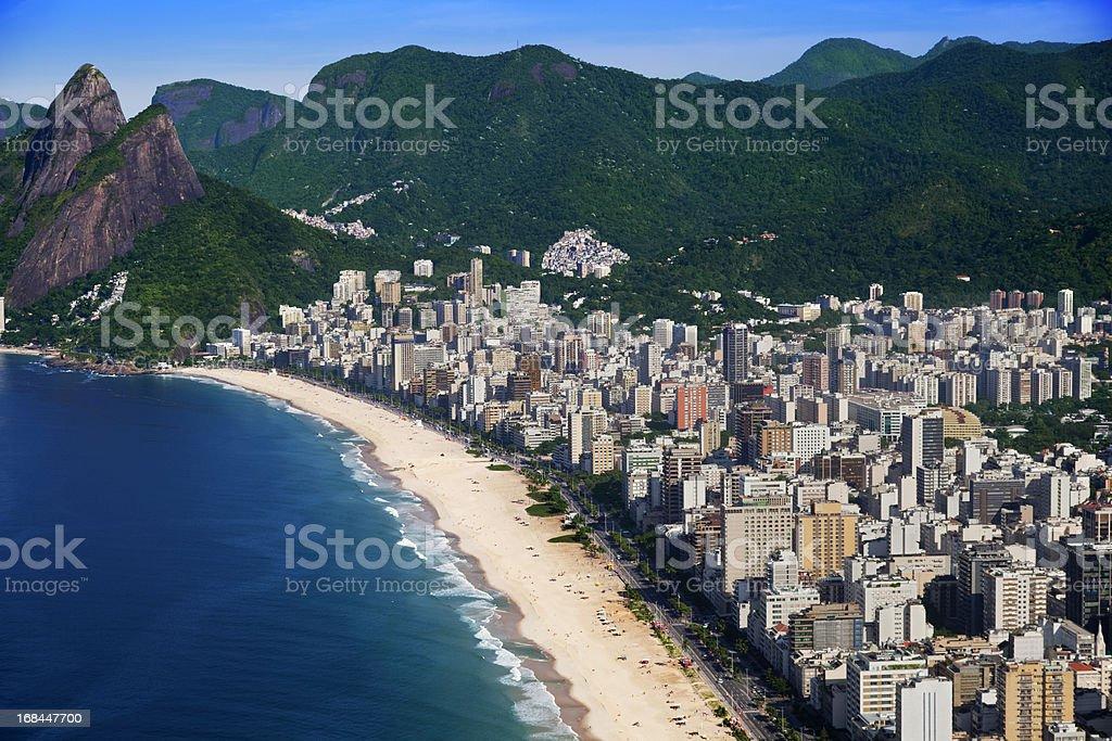 Leblon Beach in Rio de Janeiro stock photo