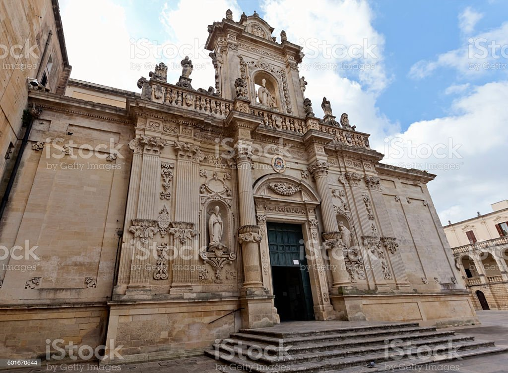 Lecce Cathedral stock photo