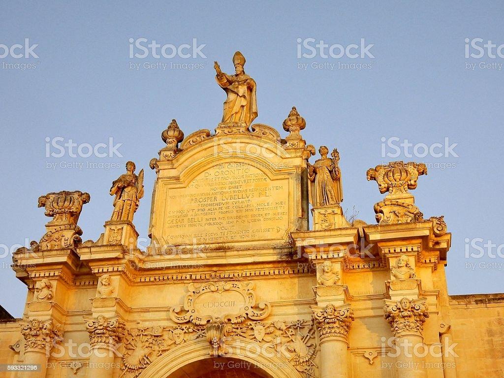 Lecce - Particolare di Porta Rudiae stock photo