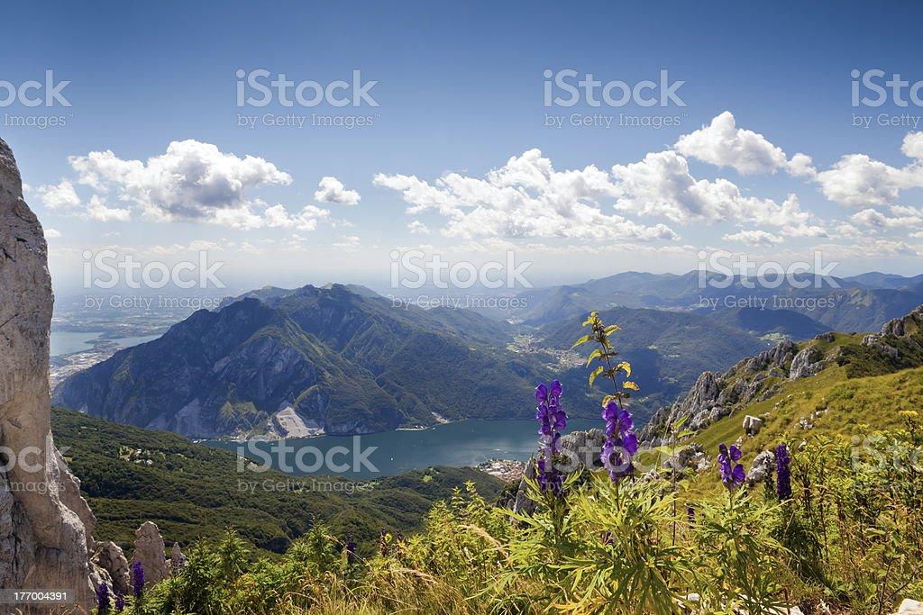 Lecco lake Como royalty-free stock photo