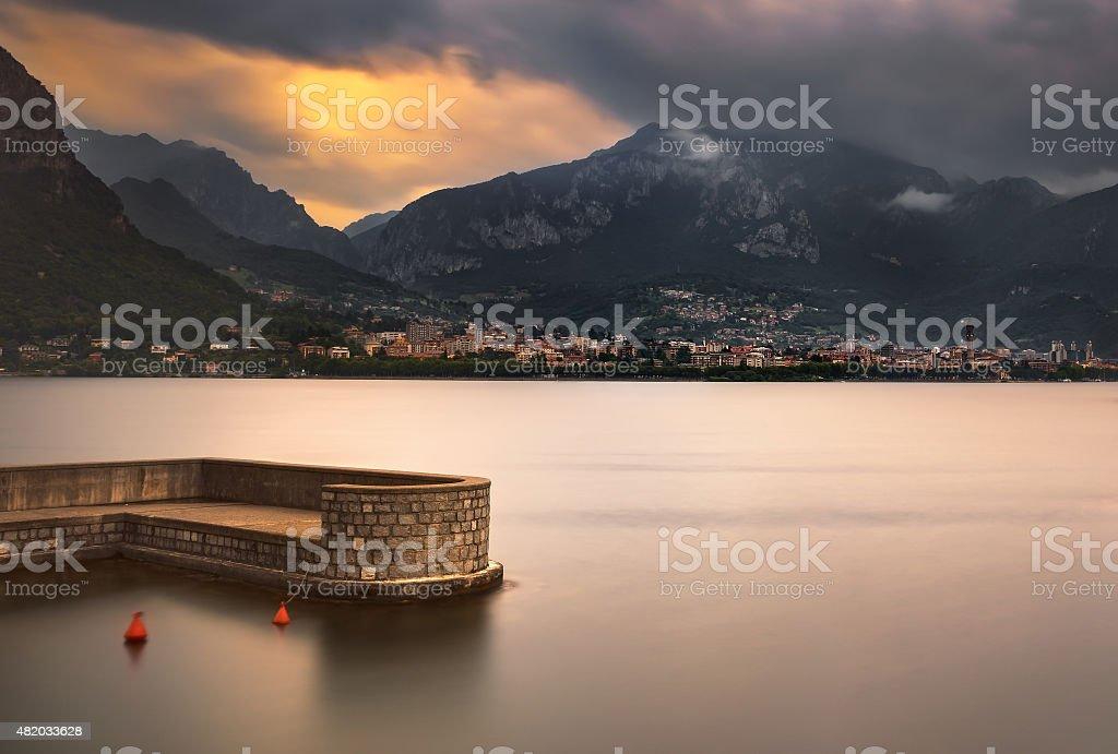Lecco town, Como Lake district landscape. Italy, Europe. stock photo