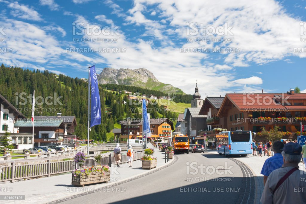 Lech Am Arlberg, Austria stock photo
