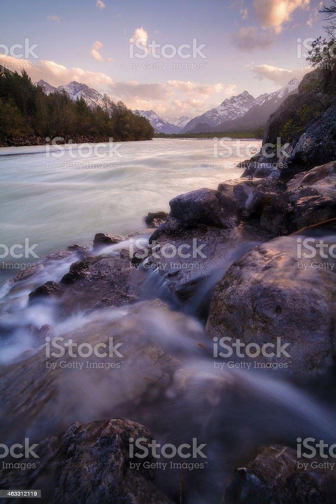 Lech River royalty-free stock photo