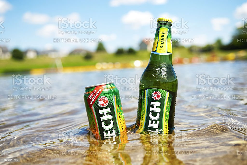 Lech Shandy beer stock photo