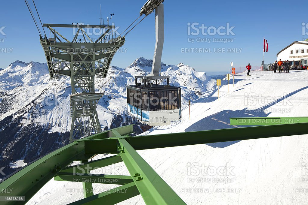 Lech ski resort, Austria. stock photo