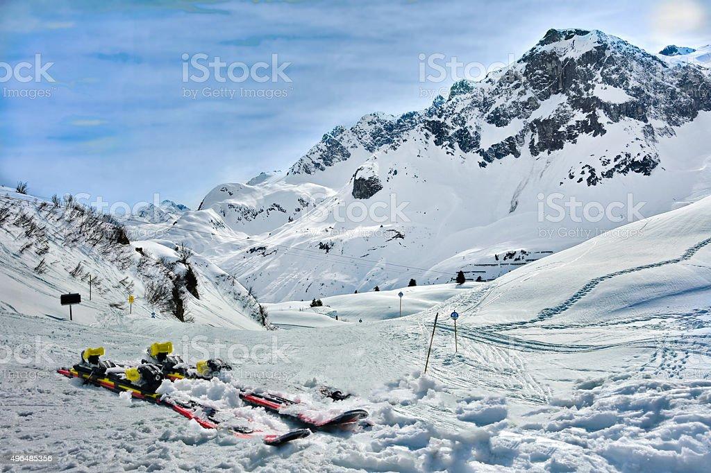 Lech Zurs ski resort, Arlberg, Tyrol, Austria stock photo