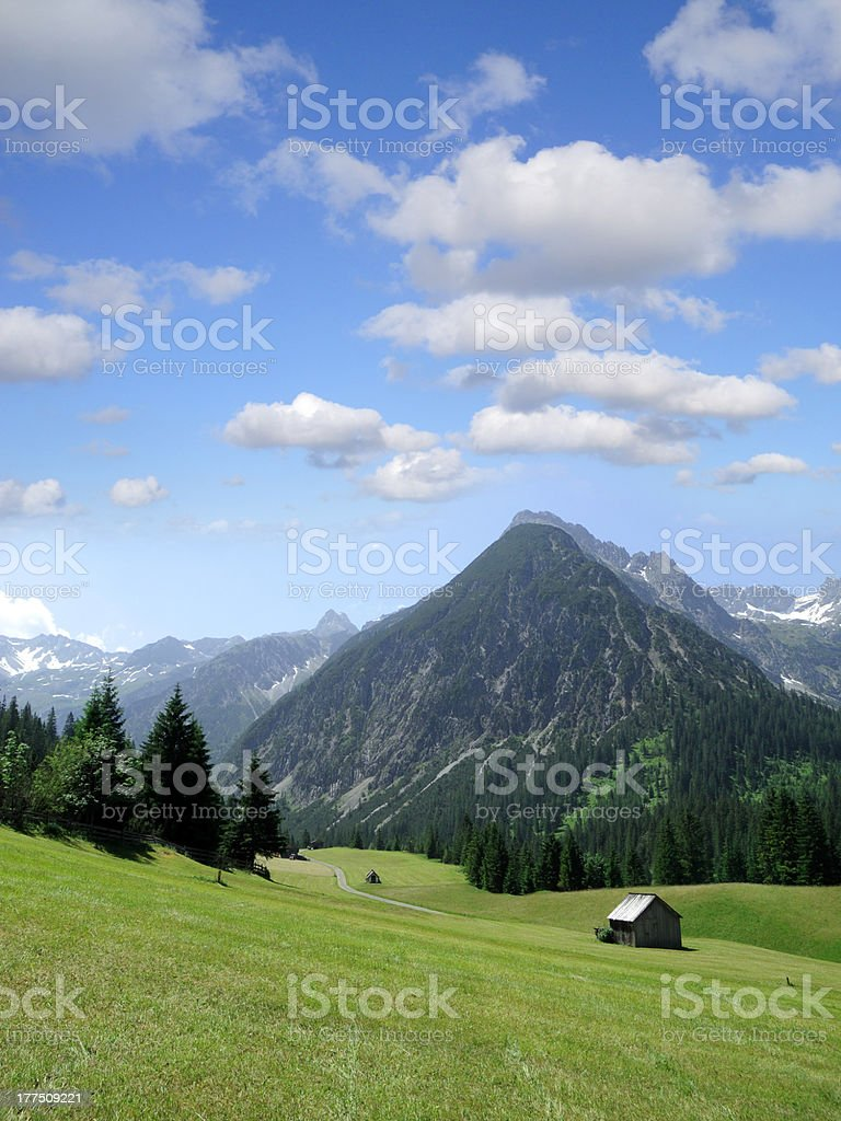Lechtal Alps royalty-free stock photo