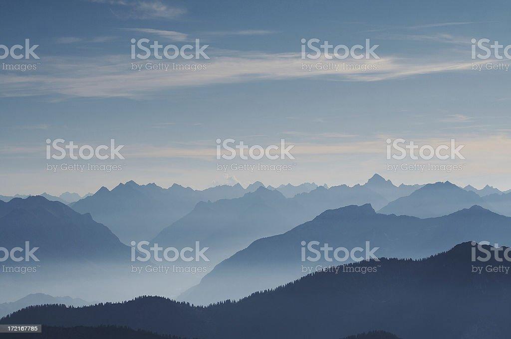 lechtal panorama stock photo