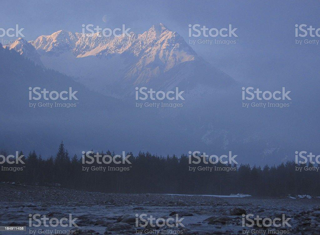 lechtal sunrise royalty-free stock photo