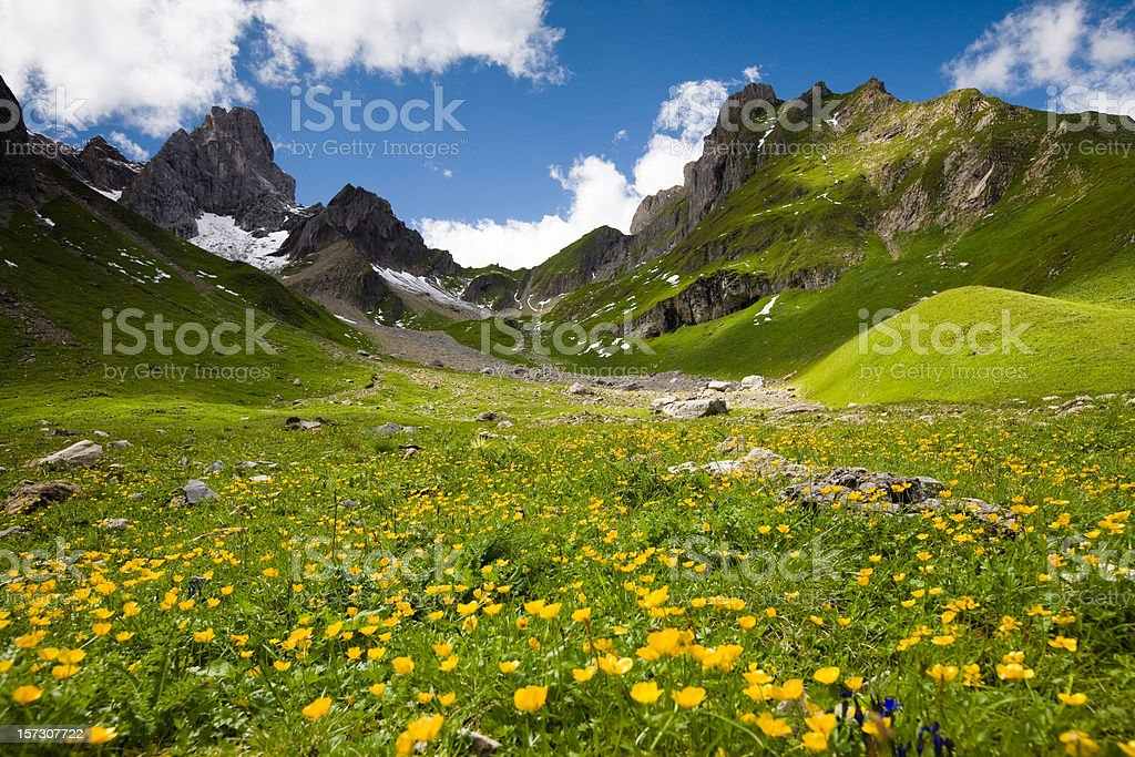lechtaler wetterspitz in tirol - austria stock photo
