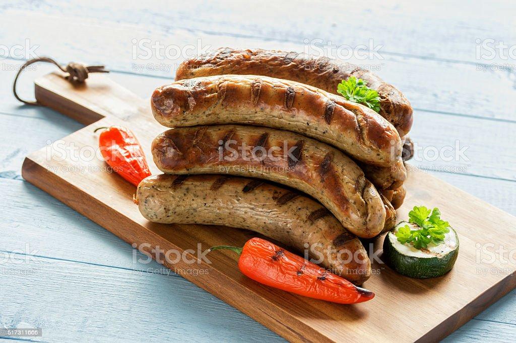 leckere Grillwürstchen stock photo