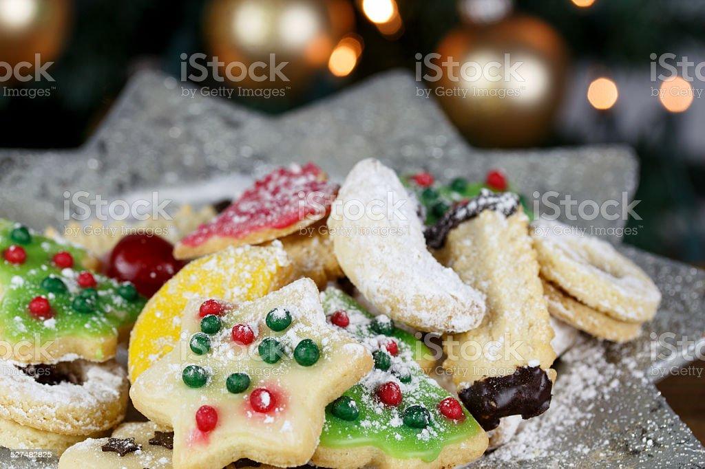 leckere Weihnachtskekse stock photo