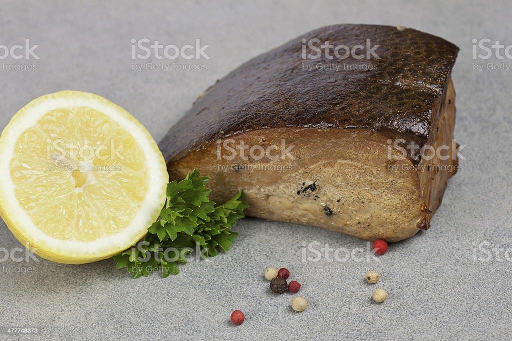 leckerer butterfisch stock photo