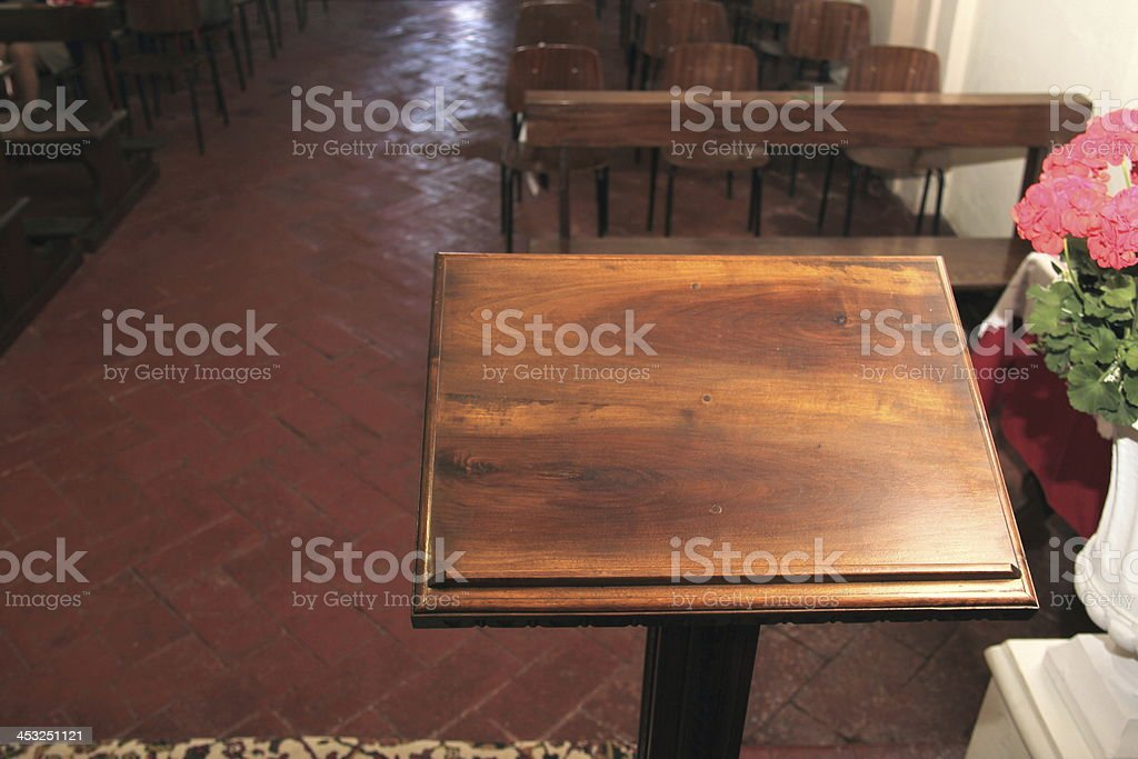 Lectern in the church royalty-free stock photo