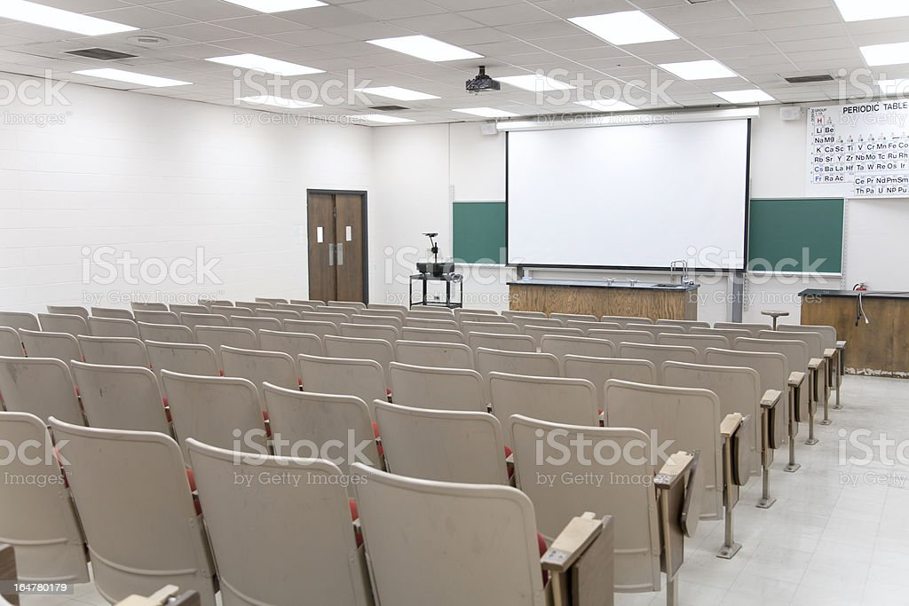 Lecture Hall royalty-free stock photo