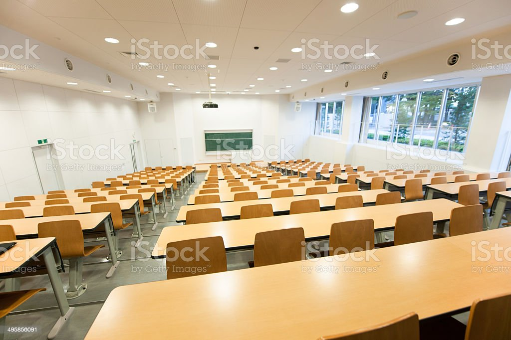 lecture hall stock photo