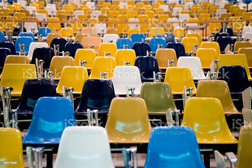Lecture Hall Seats royalty-free stock photo
