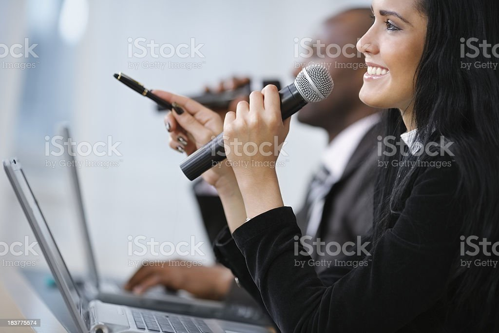 lecturers lecture business content stock photo