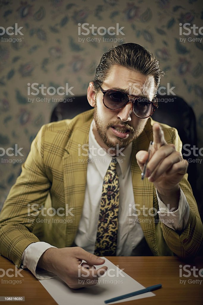 lecturing salesman royalty-free stock photo
