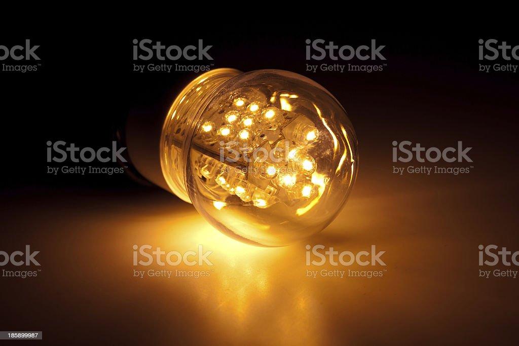 led bulb light stock photo