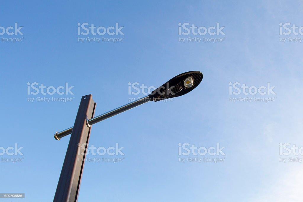 Led lamp street lighting stock photo