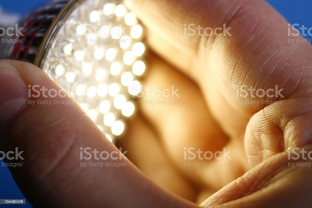 Led Light in hand royalty-free stock photo