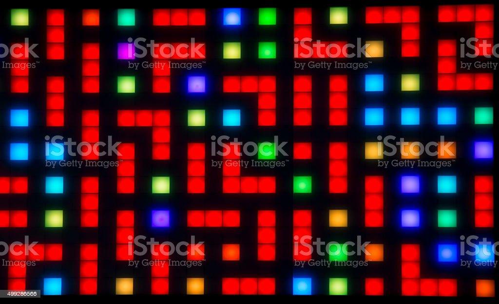 Led lights stock photo