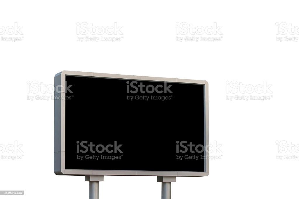 led sign board stock photo