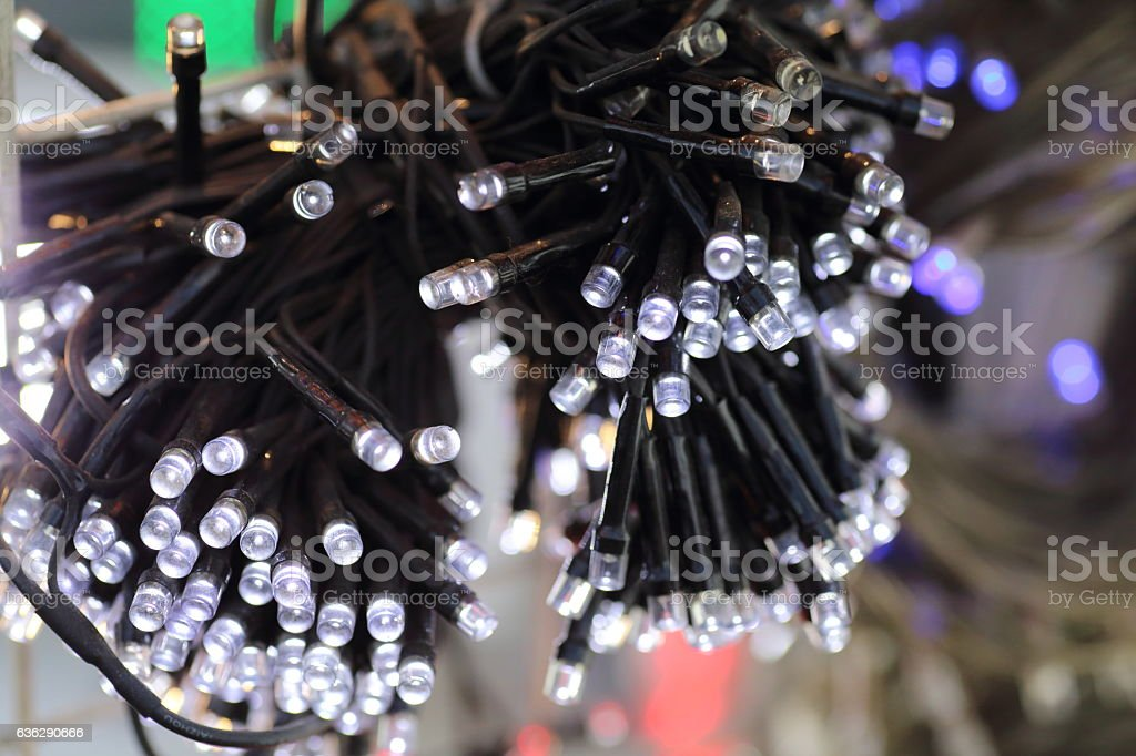led Terminal cable stock photo