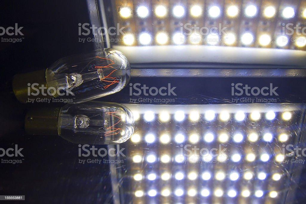 Led versus tungsten light royalty-free stock photo