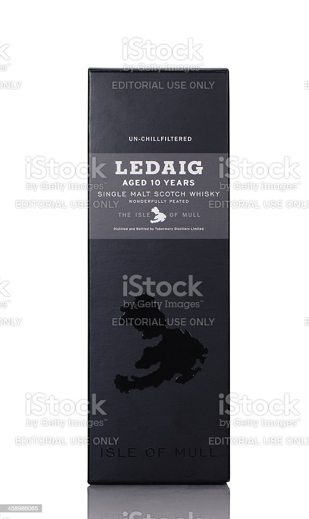 Ledaig whisky royalty-free stock photo