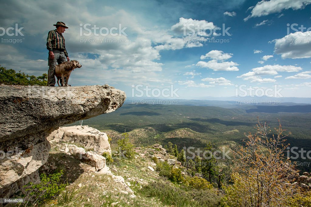 Ledge Contemplation stock photo